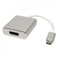 USB (3.1) Adapter, USB C (3.1) M-DisplayPort F, 0, srebrny, plastic bag, 4K2K@60Hz