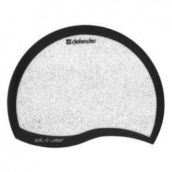 Podkładka pod mysz, PVC+PU, czarno-biały, 21.5x16.5cm, 1.2mm, Defender, Błyszczące mikrocząstki