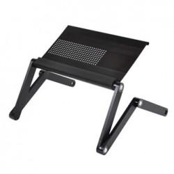 Podstawa pod notebook, możliwość obrotu o 360 st, czarny, aluminiowo-plastikowa, 10 kg nośność