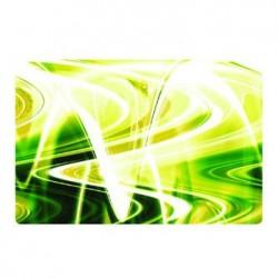 """Naklejka 17"""", abstrakcja - zielono-żółte, matowa, Logo, do notebooka"""