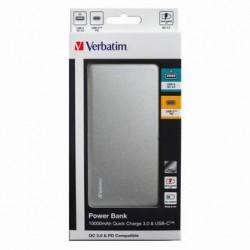 Verbatim, Powerbank, 5/9/12V, 10000mAh, do ładowania telefonów i innych urządzeń, 10000mAh