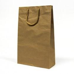 Torba papierowa, eko, brązowa, 25x10x40cm, 5szt.w opakowaniu, cena za 1 szt.