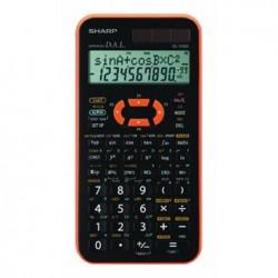 Sharp Kalkulator EL-506XYR, czarno-pomarańczowy, naukowy