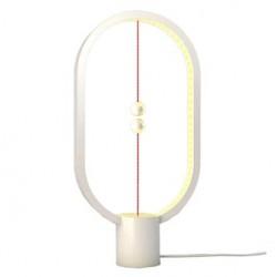 Lampka nocna Heng Balance Ellipse, biała, 5V/1A, ciepła biel, USB, z włącznikiem magnetycznym, Allocacoc