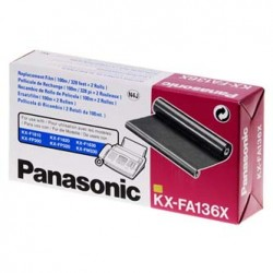 Panasonic oryginalny folia do faxu KX-FA136X, 2*100m, Panasonic Fax KX-F 1810, KX-FP 151, 152, 245, KXFM 205, 220